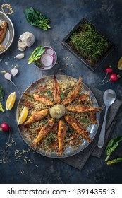 Sabzi Polo va Mahi - Herbed Persian Rice and Pan-fried Fish