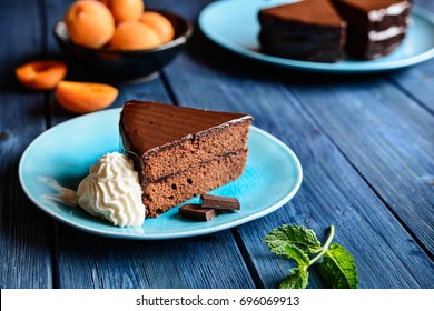 Sacher cake - traditional Austrian chocolate dessert
