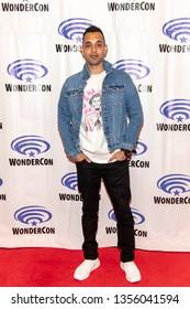 "Sachin Sahel attends 2019 WonderCon - 2019 WonderCon - CW's ""The 100""  Press Room, Anaheim, CA on March 31th, 2019"