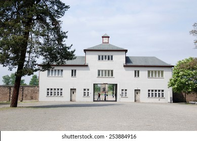 SACHSENHAUSEN-ORANIENBURG, GERMANY MAY 24: Entrance of Nazi concentration camp used primarily for political prisoners from 1936 to the end of the Third Reich on may 24 2010 in Sachsenhausen Germany.