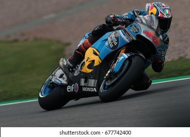 SACHSENRING - GERMANY, JULY 1: Australian Honda rider Jack Miller at 2017 GoPro MotoGP of Germany at Sachsenring circuit on July 1, 2017