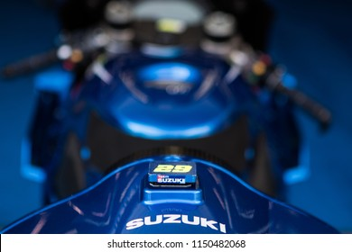 SACHSENRING, GERMANY - JULY 13, 2018: Italian Suzuki rider Andrea Iannone at Pramac MotoGP of Germany.