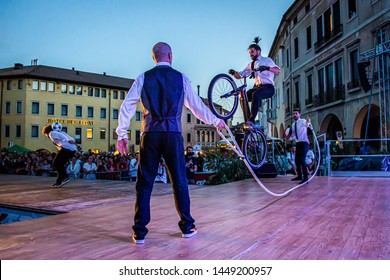 Sacile/Pordennone - 07-05-2019: Trial bike jump rope at Xtreme Days Festival 2019, extreme, freestyle sport event