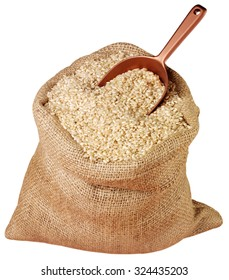 SACK OF BROWN RICE CUT OUT
