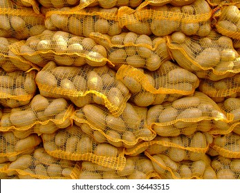 sack fuls of potatoes