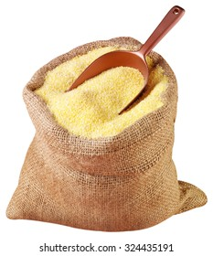 SACK OF YELLOW MAIZE CUT OUT