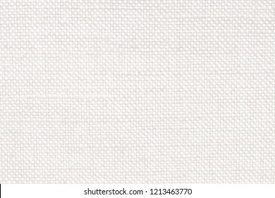 Sackcloth fabric texture background in cream color.  Closeup of light natural burlap pattern.