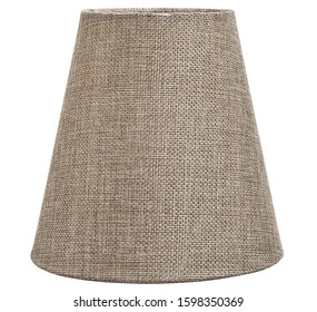 sackcloth lampshade isolated for table  or wall lamps and chandelier