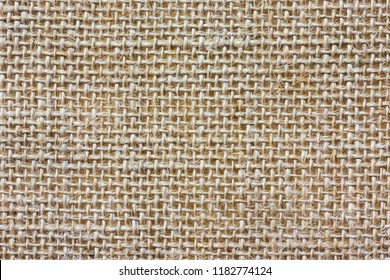 Sackcloth texture background. Rustic jute sackcloth fabric.  top view.