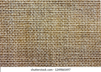 Sackcloth texture background. Rustic jute sackcloth fabric for pattern. Knit hemp rope natural texture.  top view.