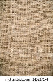 a sackcloth textured background closeup