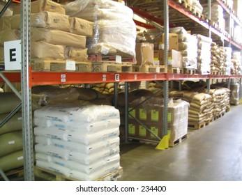 sacks with product