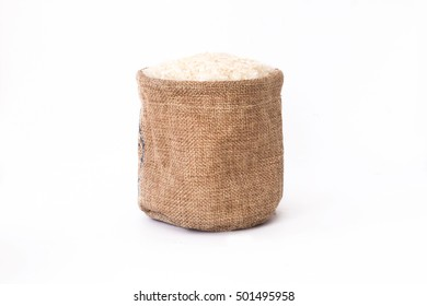 sacks rice white backgrounds