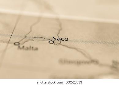 Saco, Montana, USA.