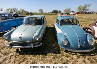 Sacramento, CA - April 5, 2009: Volkswagon cars participating in VW Ranch Run. Second annual event for VW enthusiasts.