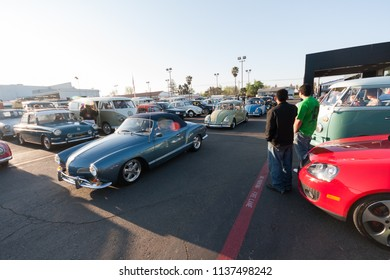 Sacramento, CA - April 5, 2009: Volkswagon cars participating in VW Ranch Run. Classic VW cars at auto show.