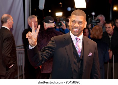 SACRAMENTO, CA - DEC 8: Mayor Kevin Johnson arrives at the California Hall of Fame ceremonies at the Sacramento Memorial Auditorium in Sacramento, California on December 8, 2011