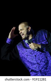 SACRAMENTO, CA - DECEMBER 31: Comedian Sinbad performs at Thunder Valley Casino Resort in Sacramento, California on December 31, 2011