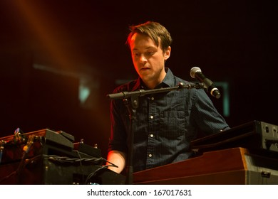SACRAMENTO, CA - December 4: Mark Bond of The Features performs at Radio 94.7's Electric Christmas at Sleep Train Arena in Sacramento, California on December 4, 2013