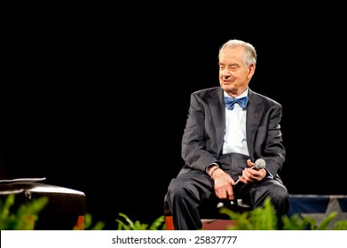 "SACRAMENTO, CA - February 24, 2009: Zig Ziglar speaking at a ""Get Motivated""  Seminar at the Arco Arena in Sacramento, California."