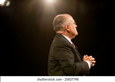 "SACRAMENTO, CA - February 24: Rudy Giuliani speaking at a ""Get Motivated"" Seminar at the Arco Arena in Sacramento, California on February 24, 2009."