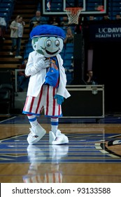 SACRAMENTO, CA - JANUARY 15: Globe the mascot for the Harlem Globetrotters performs before the game at Power Balance Pavilion in Sacramento, California on January 15, 2012