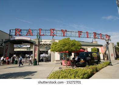 Sacramento, CA - July 20,2008: Entrance to Raley Field in Sacramento, CA, Sacramento River Cats vs. Las Vegas 51s