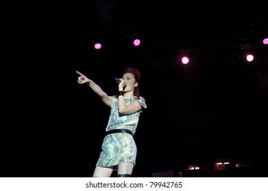 SACRAMENTO, CA - JUNE 25: Niki Chow performs in the Chinese Concert Series at Thunder Valley Casino on June 25th 2011, in Lincoln, California.