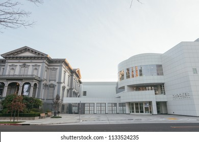 Sacramento, CA - March 25, 2010: Old and New Crocker Art Museums in Sacramento. One of the major art museums in the area.