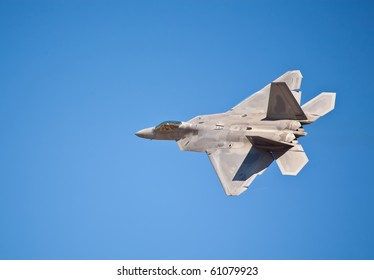 SACRAMENTO, CA - SEPT 11: Lockheed Martin F-22 Raptor performs at California Capital Airshow, September 11, 2010, Mather Airport, Sacramento, CA