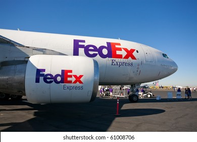 SACRAMENTO, CA - SEPTEMBER 11: McDonnell Douglas DC-10 FedEX cargo aircraft on display at California Capital Airshow, September 11, 2010, Mather Airport, Sacramento, CA