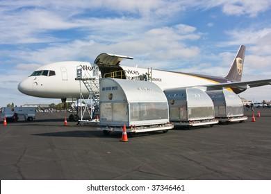 SACRAMENTO, CA - September 13: Boeing 757-24APF UPS on display at California Capital Airshow, September 13, 2009, Mather Airport, Sacramento, CA