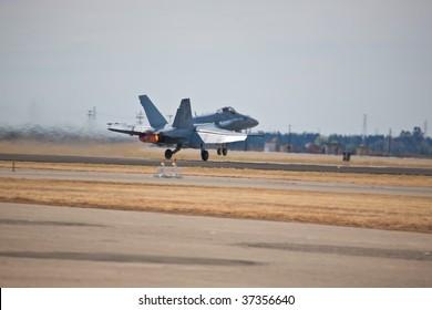 SACRAMENTO, CA - September 13: F/A-18C flies at California Capital Airshow, September 13, 2009, Mather Airport, Sacramento, CA