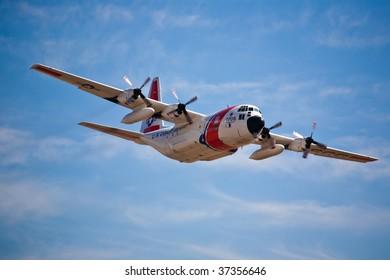 SACRAMENTO, CA - September 13: US Coast Guard C-130 Hercules at California Capital Airshow, September 13, 2009, Mather Airport, Sacramento, CA