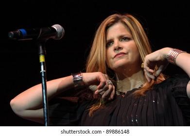 SACRAMENTO, CA - SEPTEMBER 23: Ann Curless with Expose performs at Power Balance Pavilion in Sacramento, California on September 23, 2011
