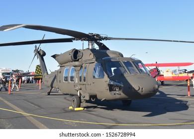 Sacramento, CA / USA - 10/5/2019: California Capital Airshow, #CCA19, Airplanes, Helicopters, Civilian aircraft, Military aircraft