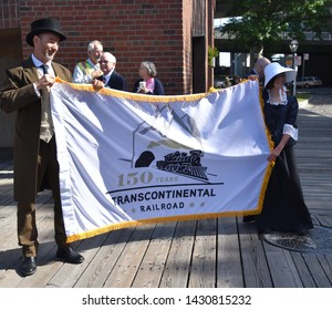 Sacramento, CA / USA - 5/8/2019: 150th Anniversary of Transcontinental Railroad