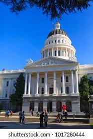 SACRAMENTO, CA, USA - FEB 2, 2018: The California State Capitol Building