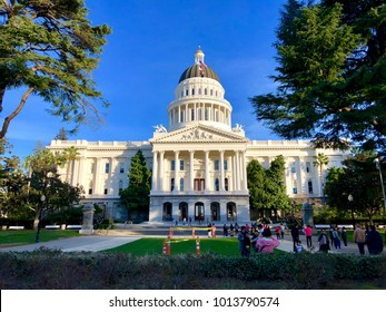 SACRAMENTO, CA, USA - JAN 29, 2018:  The California State Capitol Building