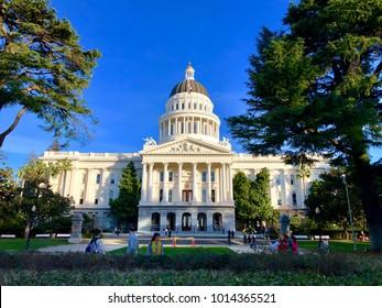 SACRAMENTO, CA, USA - JAN 29, 2018:  The California State Capitol Building