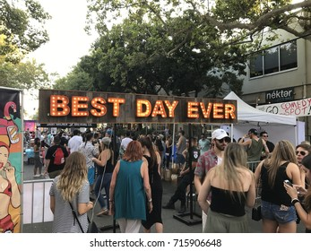 SACRAMENTO, CA, USA - SEP 10, 2017: Best Day Ever Street party, Music festival in Midtown