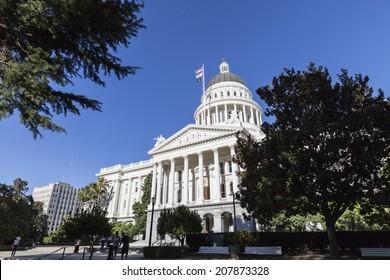 SACRAMENTO, CALIFORNIA - July 4, 2014:  The California State Capitol Building in Sacramento.