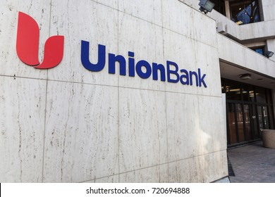 SACRAMENTO, CALIFORNIA - MARCH 5, 2017: Union Bank logo on the outside of the bank office building.