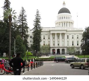 Sacramento, California, United States. April 2019. View of the California State Capitol building