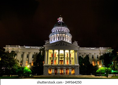 Sacramento, California, United States - June 9, 2013: The California State Capitol is the seat of the government of California, housing the chambers of the state legislature..