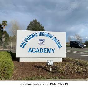 Sacramento, California / USA - March 20, 2019: California Highway Patrol Academy