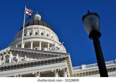 Sacramento Capitol of California with blue sky