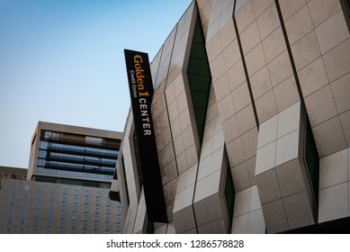 SACRAMENTO, CA/U.S.A. - AUGUST 24, 2018: Photo of the newly-constructed Golden1 Center in downtown Sacramento.
