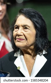 SACRAMENTO, CA/U.S.A. - DECEMBER 10, 2019: A close up portrait of civil rights activist Dolores Huerta.  Huerta was inducted into the Hall of Fame in 2012.