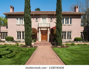 SACRAMENTO, CA/U.S.A. - MARCH 23, 2012: A photo of the historic Julia Morgan House.  The historic house is a Mediterranean Revival mansion, located in the Elmhurst neighborhood.
